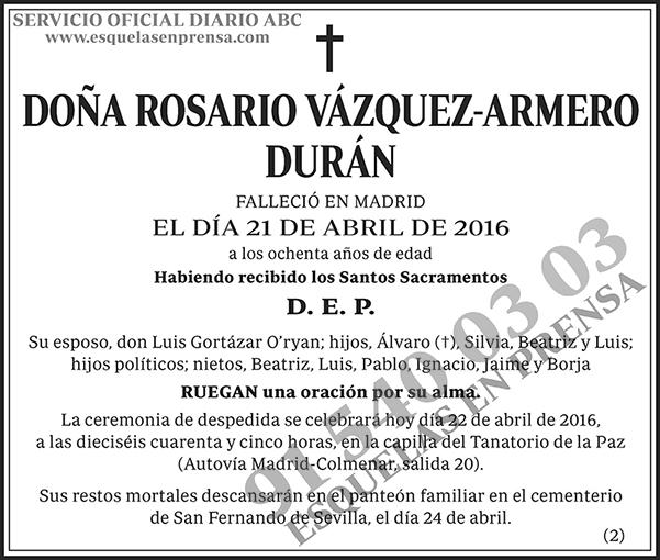 Rosario Vázquez-Armero Durán